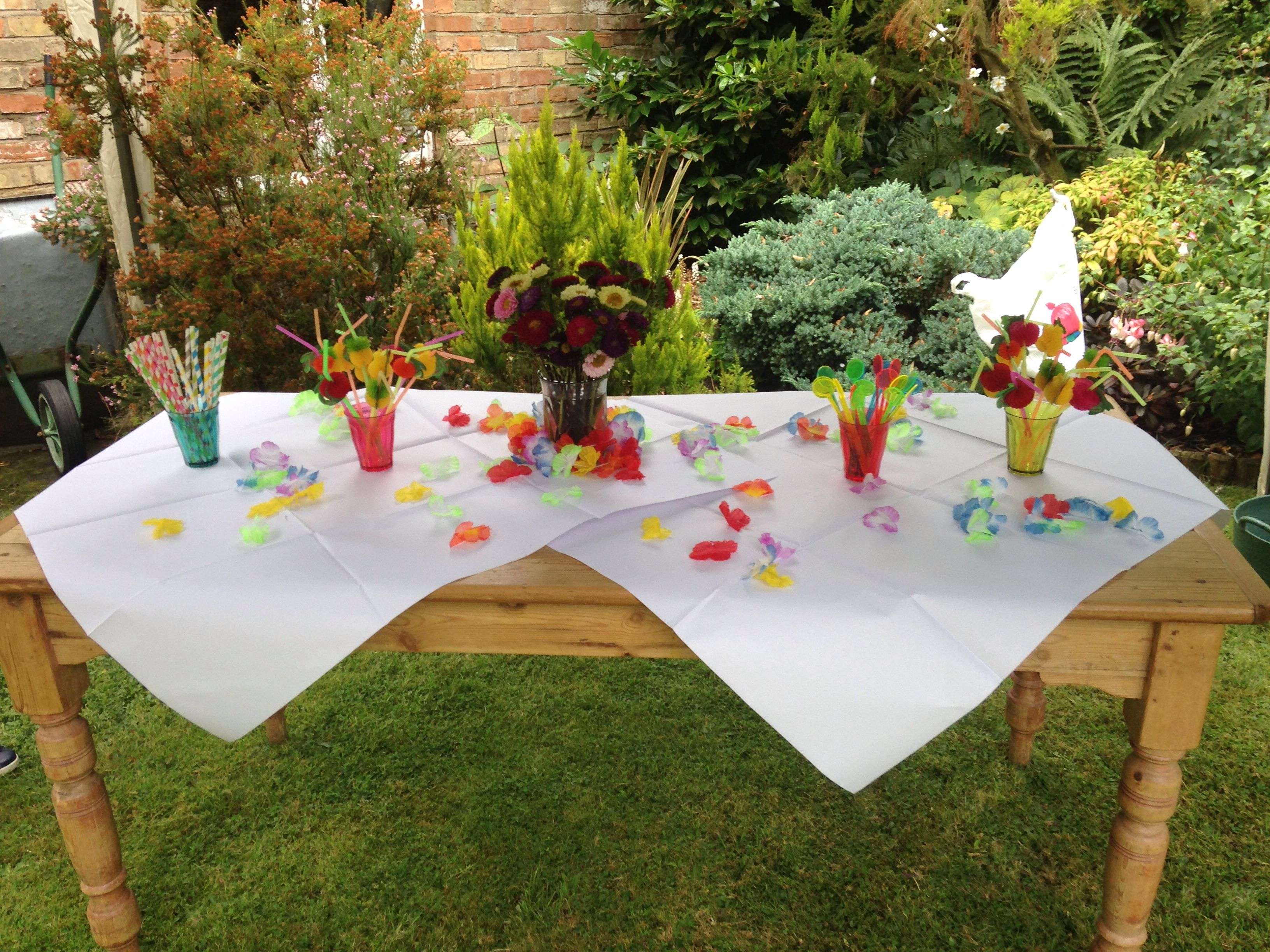 Colourful themed 10th wedding anniversary