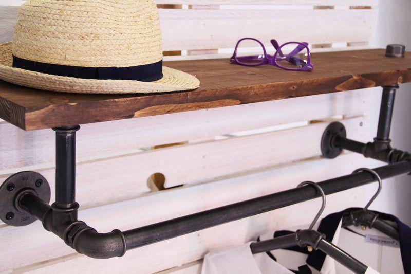 vintage garderoben garderobe wandgarderobe stahlrohr industry ein designerst ck von. Black Bedroom Furniture Sets. Home Design Ideas