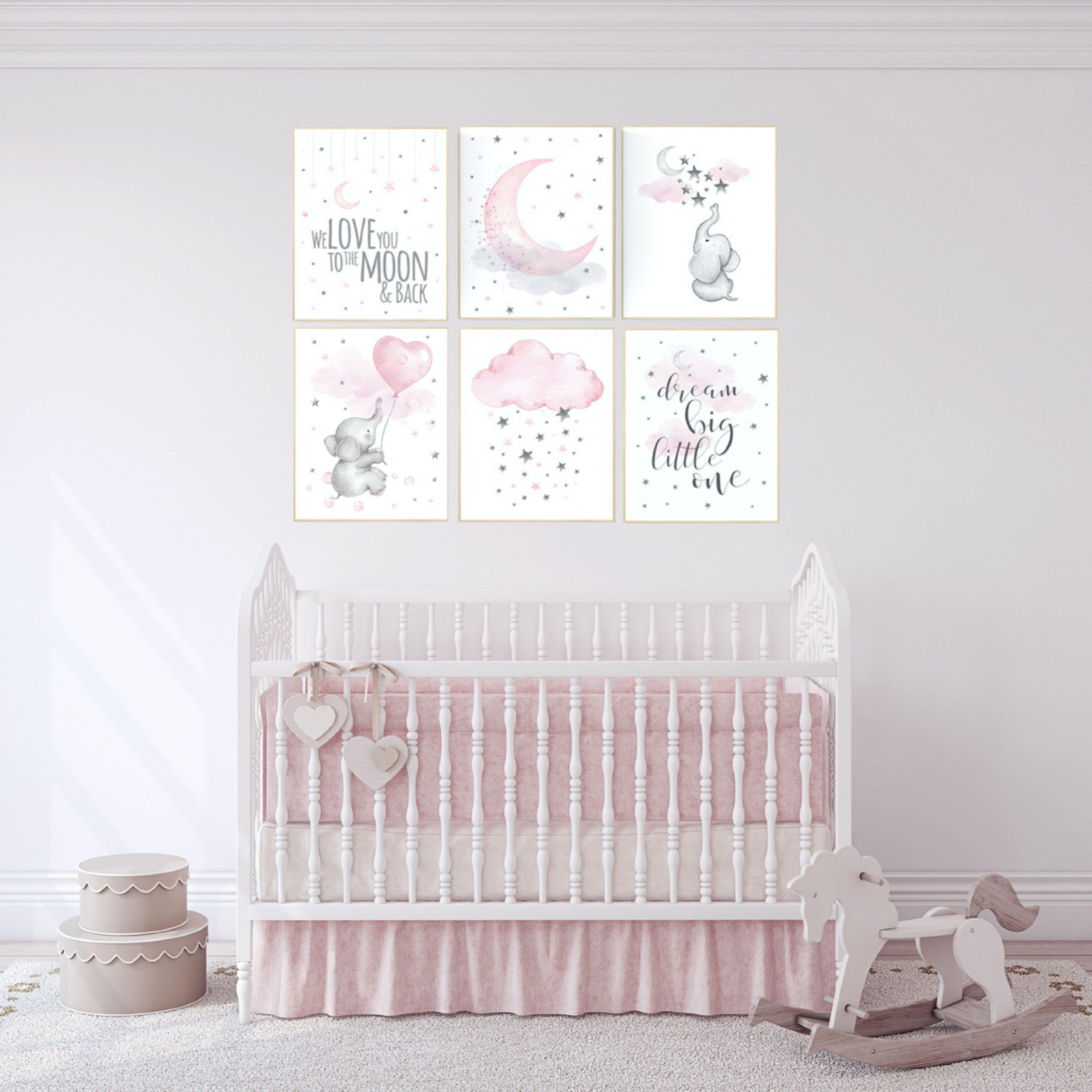 Nursery Decor Pink Gray