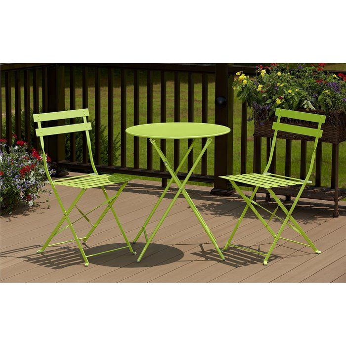 Sit Back And Relax With The Cosco 3 Piece Bistro Set With Modern