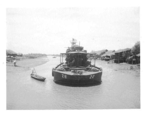 """US Navy """"zippo boat"""", 1969"""