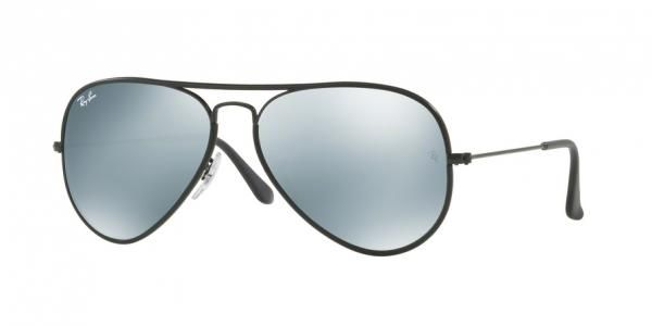 9d91e82cf91d92 Ray Ban Aviator Full Color RB3025jm 002 30 Black (Light Green Mirror Silver)