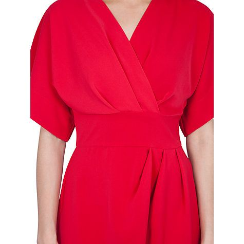 Buy Closet Cross Over Tie Back Kimono Dress, Pink Online at johnlewis.com