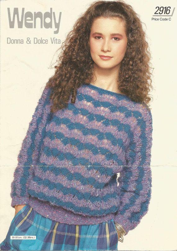 Vintage Wendy Knitting Pattern 2916 Donna Dolce Vita Pdf Download