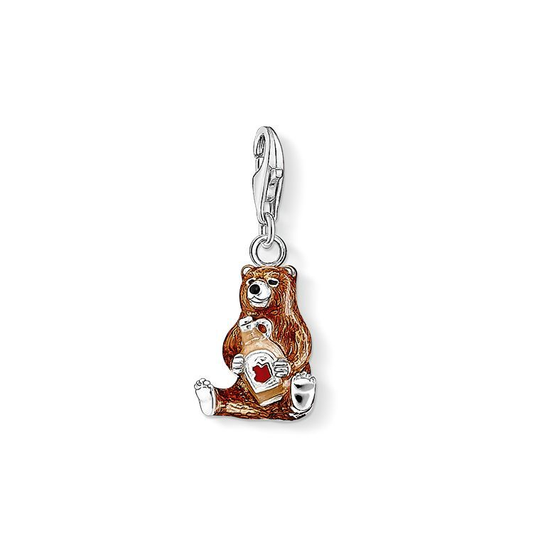 You can never get enough of sweet syrup – particularly not in combination with this sweet brown #THOMASSABO bear! The colourful cold enamel really makes the fur of the animal companion, made of 925 Sterling silver, shine.