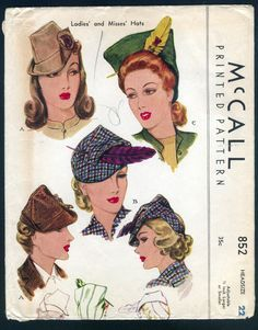 1940s womens hats - Google Search