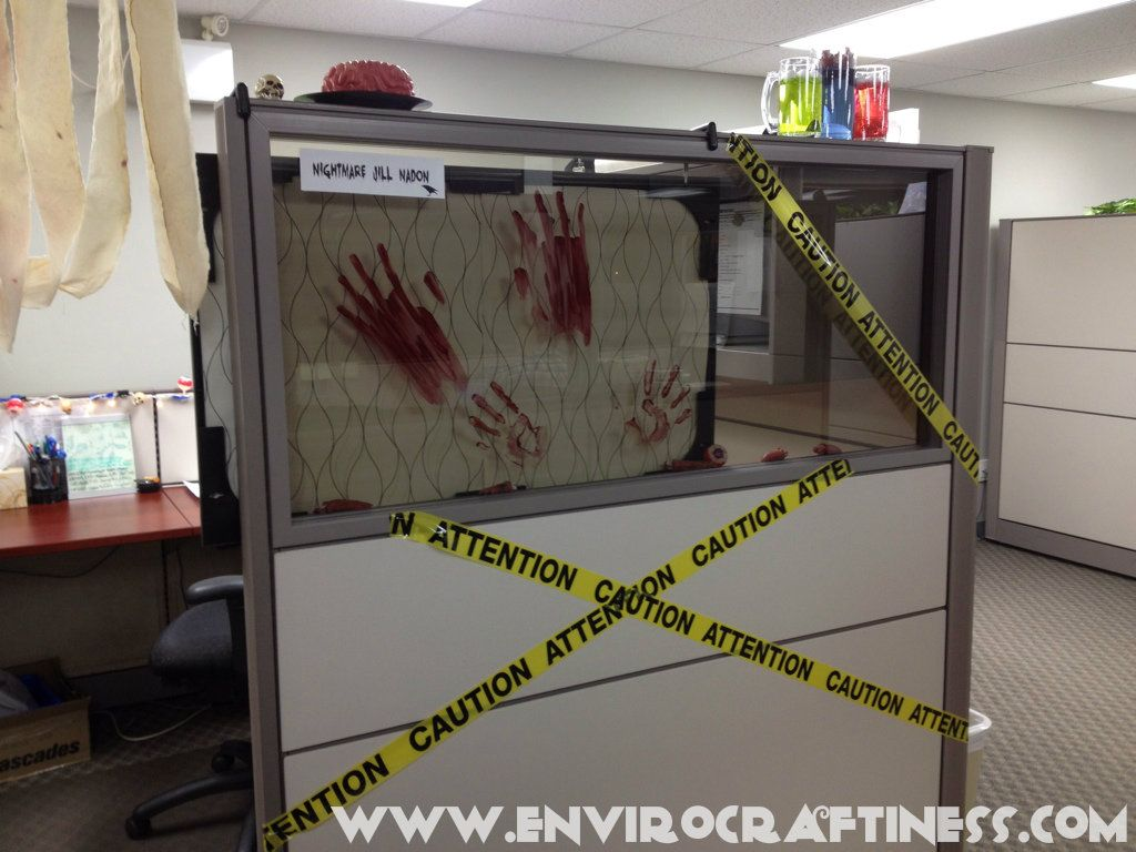Pin By Decodeko On Funny Office Cubicle Halloween Cubicle Office Halloween Decorations Halloween Office