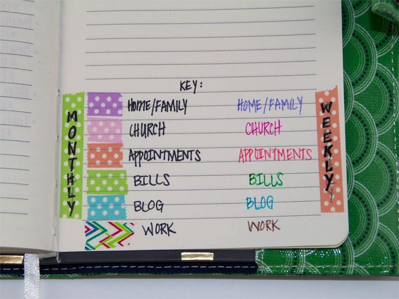 How To Organize Your Planner With Washi Tape 8