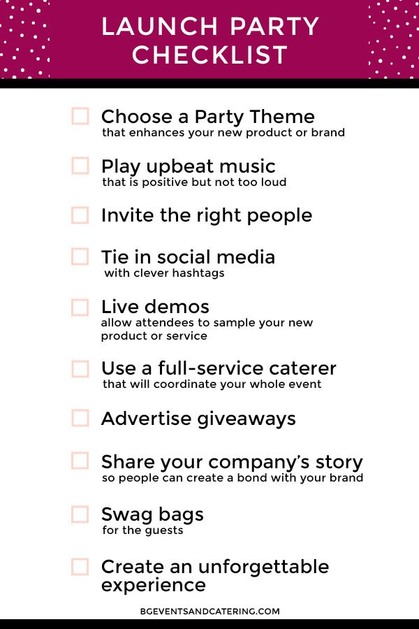 We have gathered 10 key items to make sure your event has a dont forget these 10 things at your next product launch stopboris Image collections
