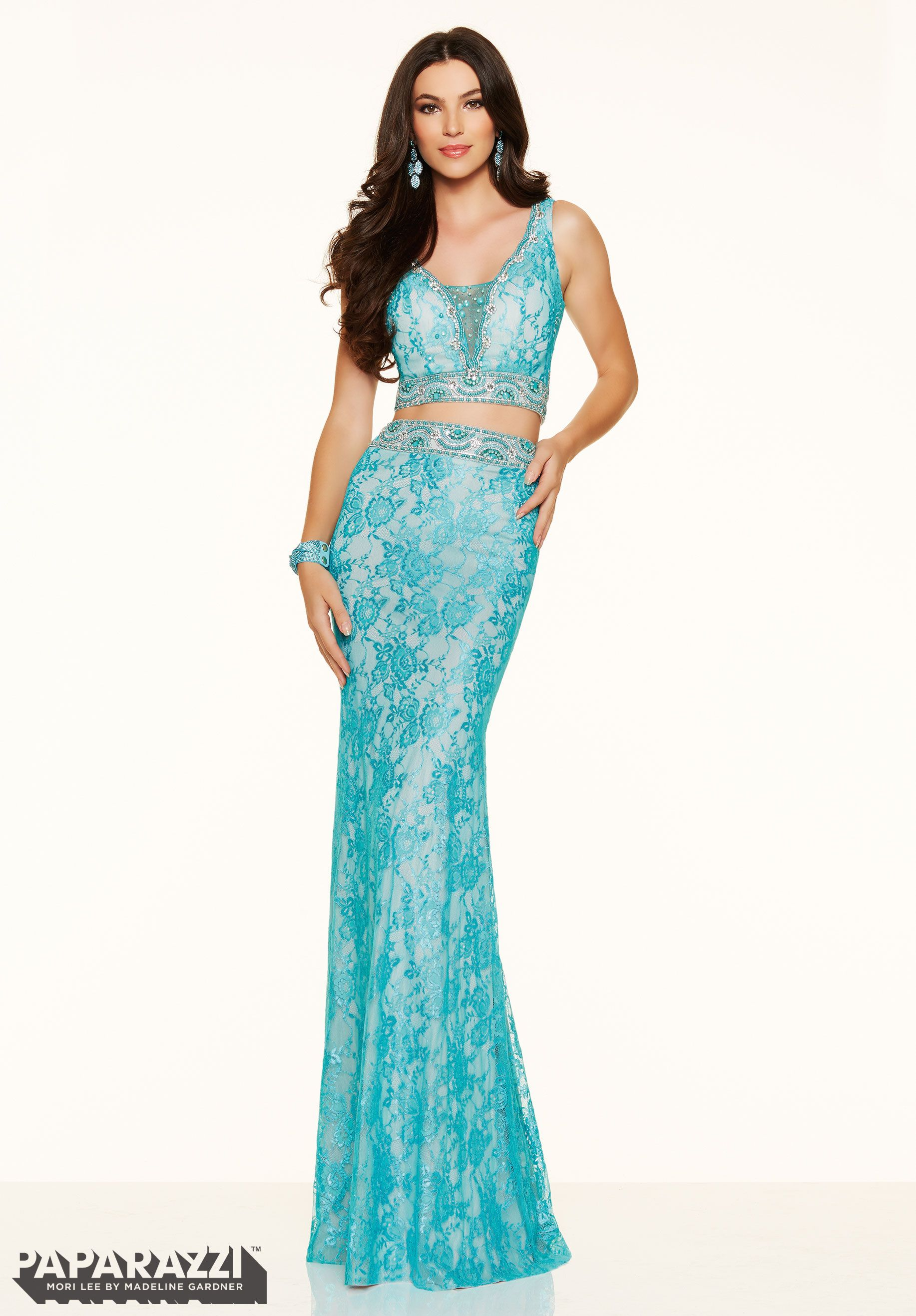 Prom Dress 98010 2 Piece All Over Lace with Beading | Prom Dresses ...