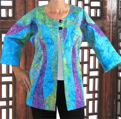 Aquarius Jacket Pattern BSS-150. Dolman Sleeve, bust only up to 47 1/2, but nice design idea.