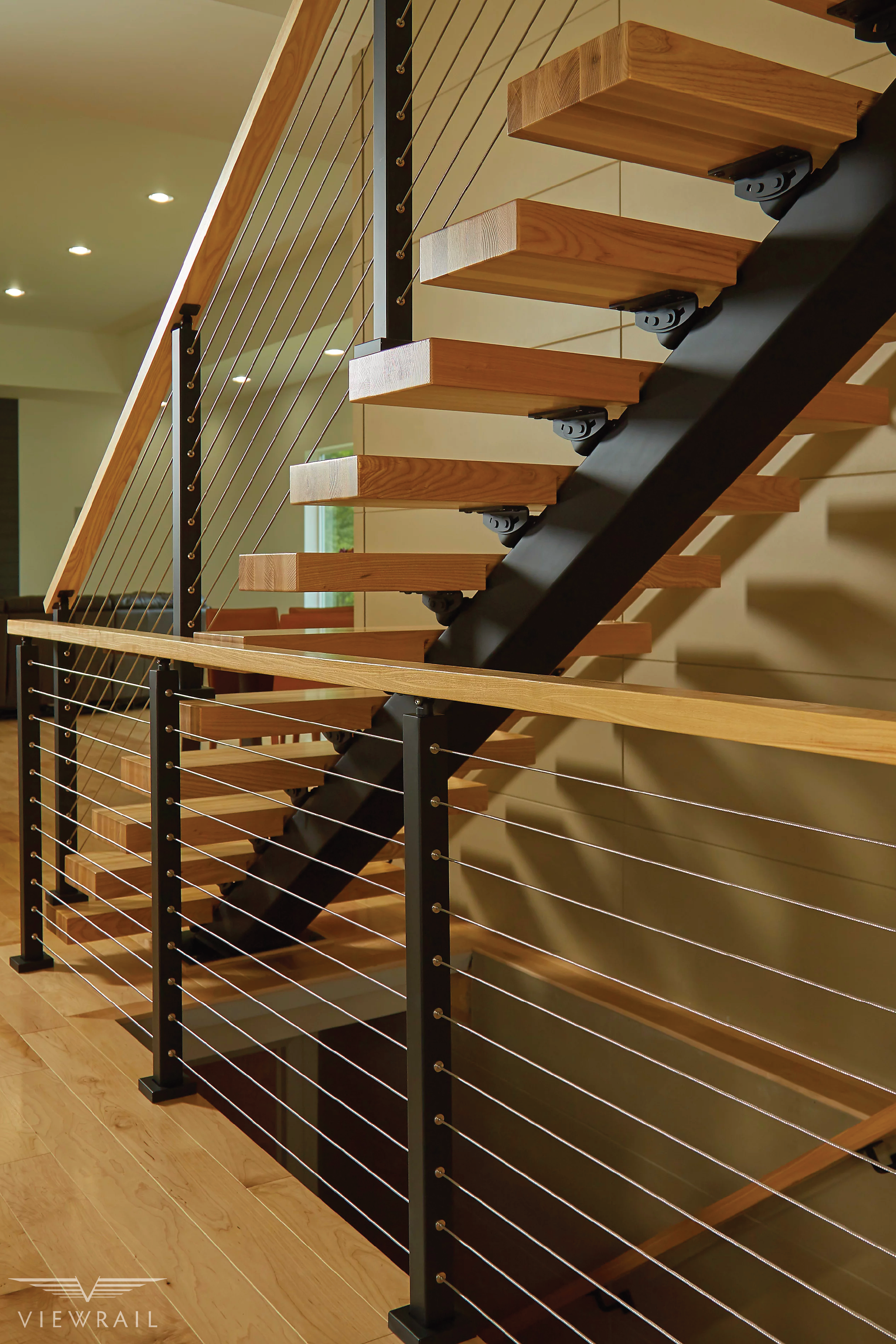 Straight Staircases Single Stringer Metal Staircases Viewrail