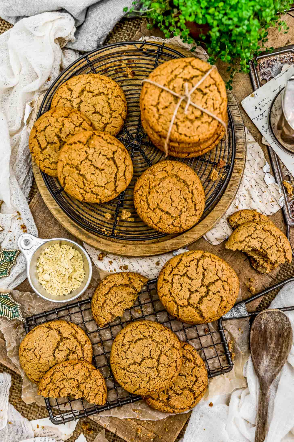 Ginger Snap Cookies Recipe Ginger snap cookies, Whole