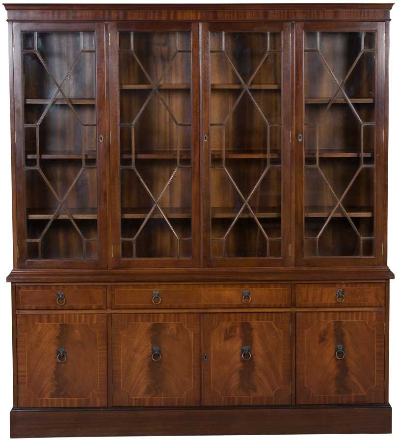 Bookcase With Glass Doors Glass Doors Antique Furniture And Doors