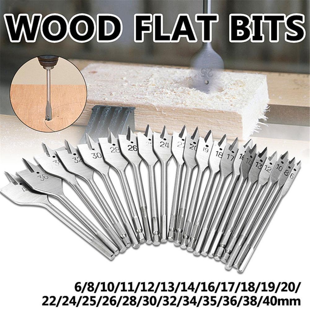 Machine Flat Wood Drill Bits All Sizes Spade Hex Shank Bit Cutter 6 40mm Pretty Wood Drill Bits Drill Bit Sets Drill Bits