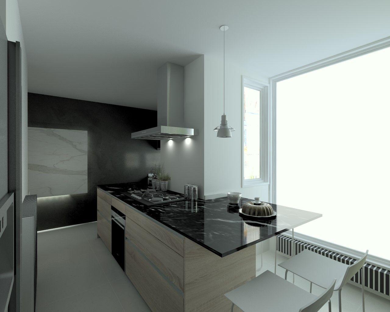 Cocina santos modelo line laminado seda blanco encimera - Encimera marmol cocina ...