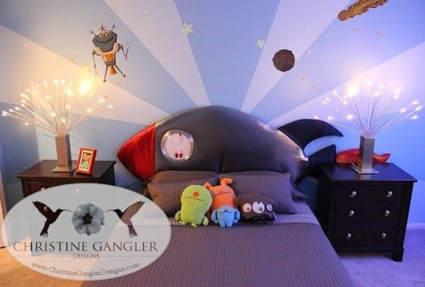 Boys Outerspace Theme Room By Christine Gangler Designs Is Out Of