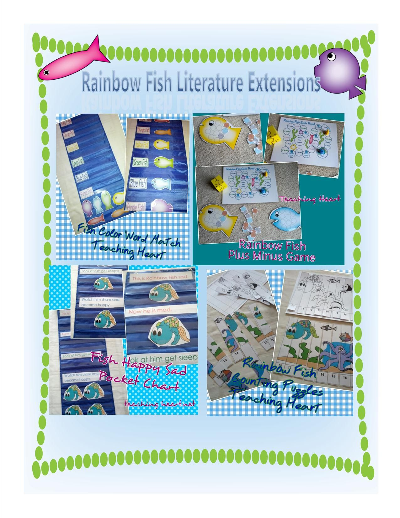 Rainbow Fish Literature Extensions For Math Reading Games