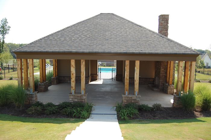 Poolside cabanas small pool cabana plans http for Pool cabana plans