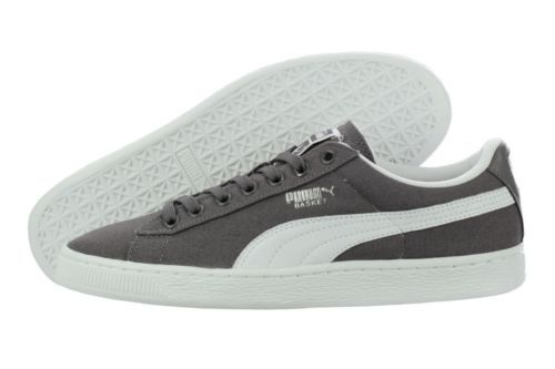 Puma Basket Classic Canvas 35575916 Grey White Casual Shoes