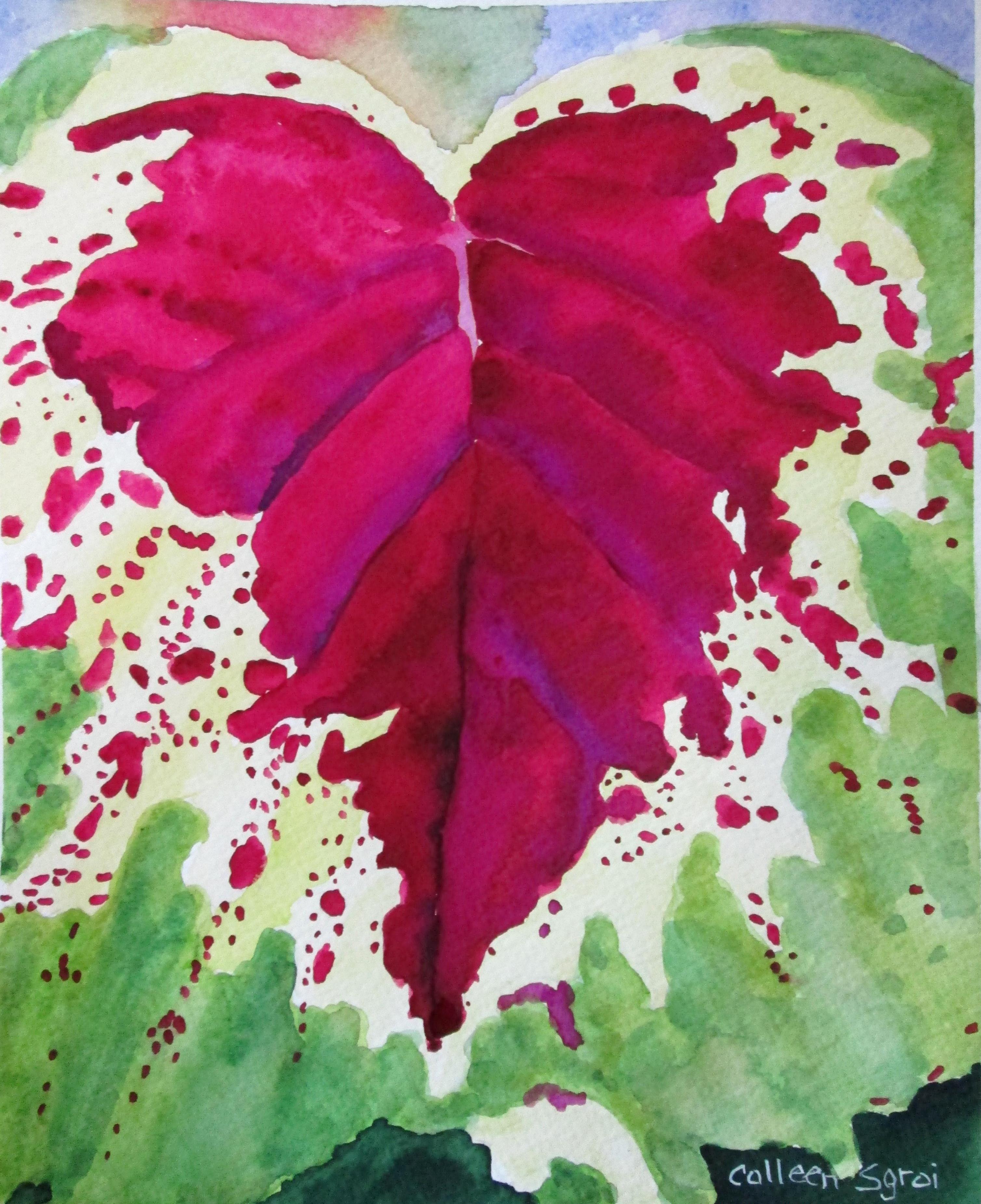 Coleus4 print from original watercolor