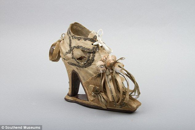 Uncomfortable: Slap sole shoes, these from the 1640s, were all the rage in 17th century Br...