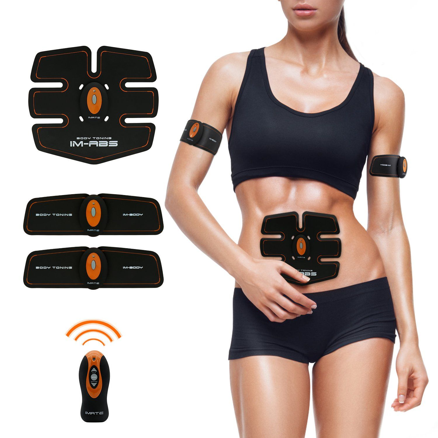 Abdominal Muscle Toner Abs Training Gear Body Fit Toning Belt Wireless Muscle Exercise For Abdomen Arm Leg T Leg Training Exercise Abdomen No Equipment Workout