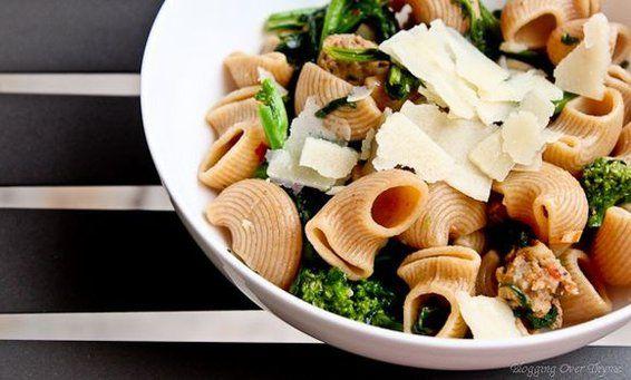 Chiocciole with Rapini and Hot Italian Sausage, a recipe on Food52