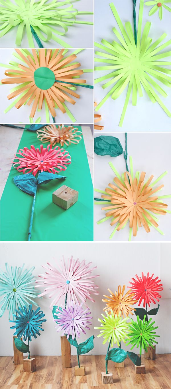 How To Make A Paper Flower Decorating Pinterest Flower