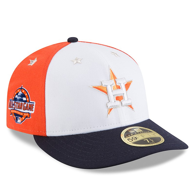 reputable site d2e96 3d645 Houston Astros New Era 2018 MLB All-Star Game On-Field Low Profile 59FIFTY  Fitted Hat – White Navy