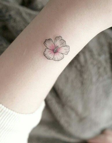 Tiny Flower Wrist Tattoo Hybiscus Tattoo Hibiscus Tattoo Small Tattoos
