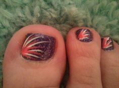 Firework Toes I Want To Do This In Red White And Blue For
