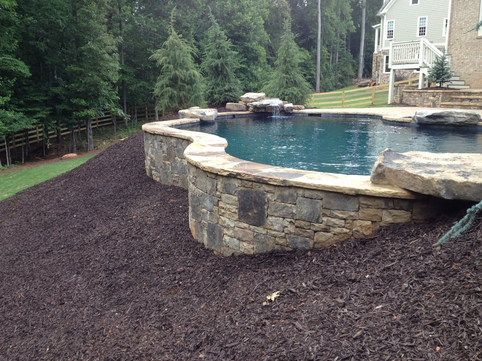 Swimmming Pool Exposed Walls Atlanta Designer Builder Amazing Swimming Pools Inground Pool Landscaping Swimming Pools