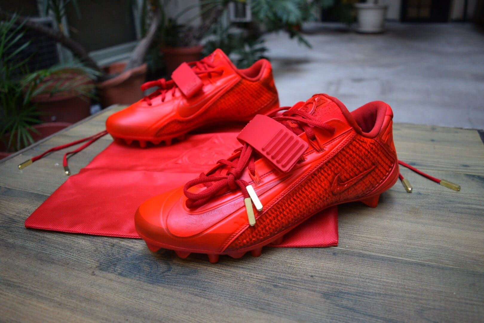 Red October Yeezy Cleats Odell Beckham by Kickasso | Football Gear ...