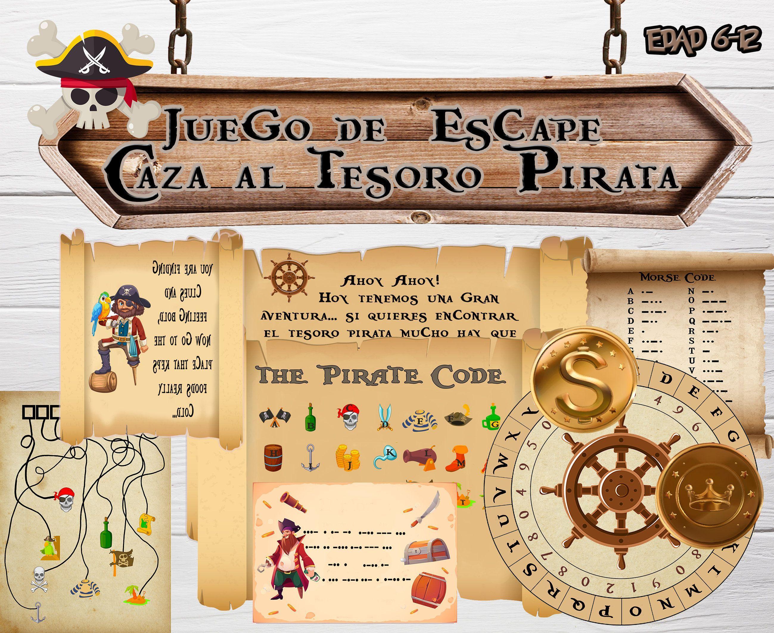 Escape Room Juego Caza Al Tesoro Para Niños Decoración Pirata Juego En Casa Fiesta De Cumpleaños Juegos Y Sombrero Españ Novelty Sign Escape Room Home Decor