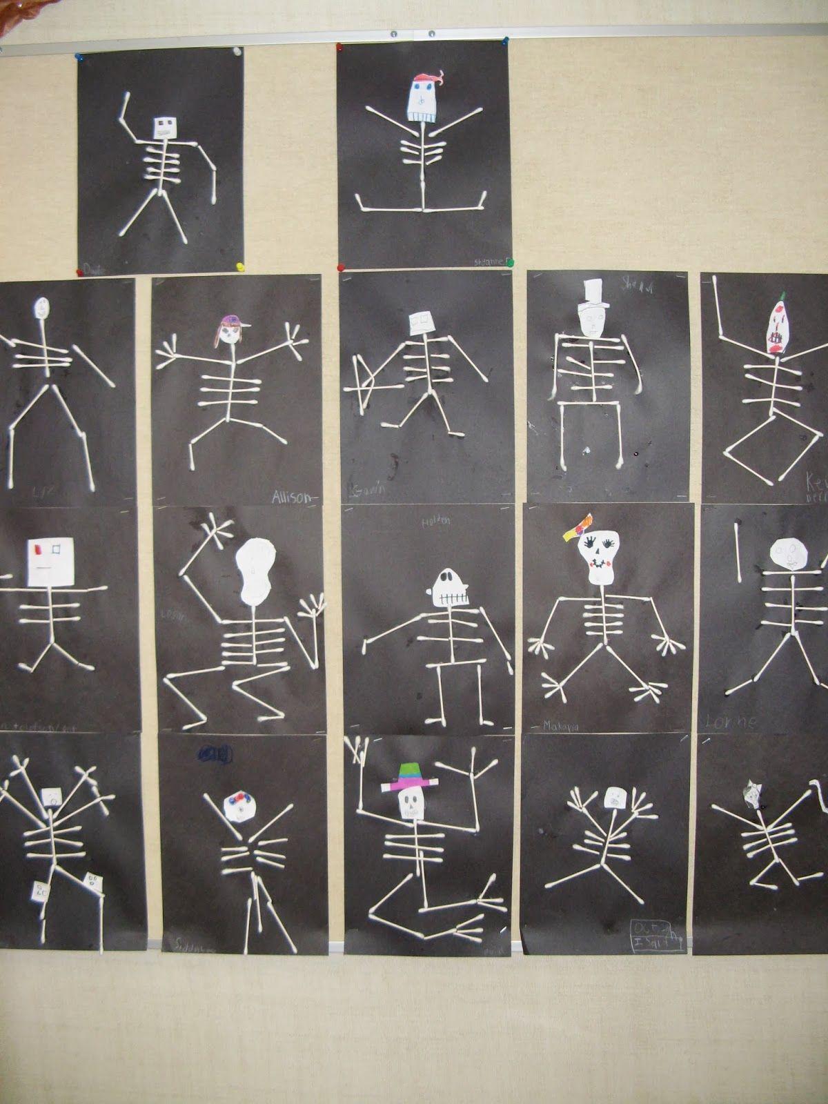 Q Tip Skeleton Template