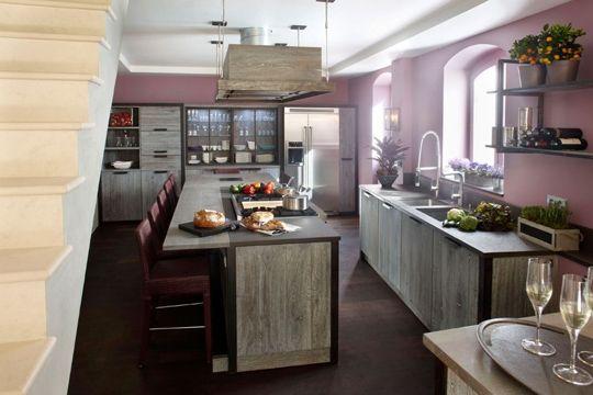 cuisine ilot on pinterest deco cuisine plan de travail and long kitchen. Black Bedroom Furniture Sets. Home Design Ideas