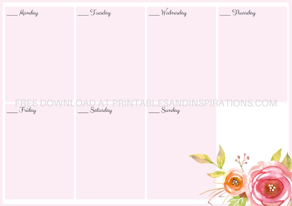 free printable 2020 monthly calendar   weekly planner