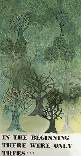 In the Beginning There Were Only Trees by East Grinstead Millennium Mural team 1999
