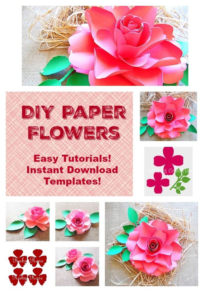 Easy diy paper flowers tutorials and instant download templates easy diy paper flowers tutorials and instant download templates giant paper flowers weddings events mightylinksfo