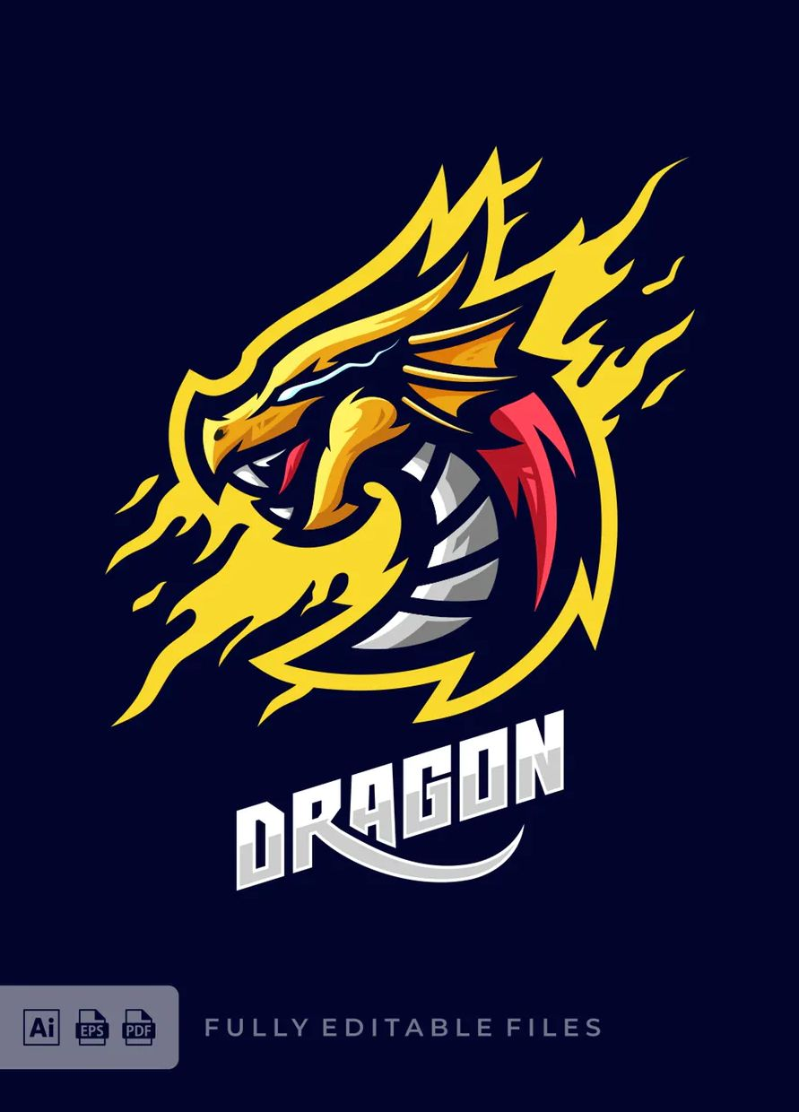 Download Dragon Sports And Esports Logo Design Inspirasi Desain Grafis Ilustrasi Grafis