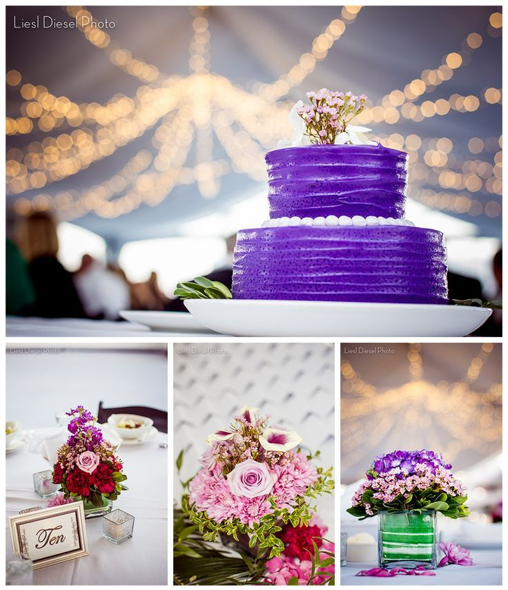 Columbia Yacht Club Wedding Reception Details Cake Floral