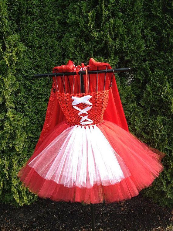 Little Red Riding Hood inspired tutu dress