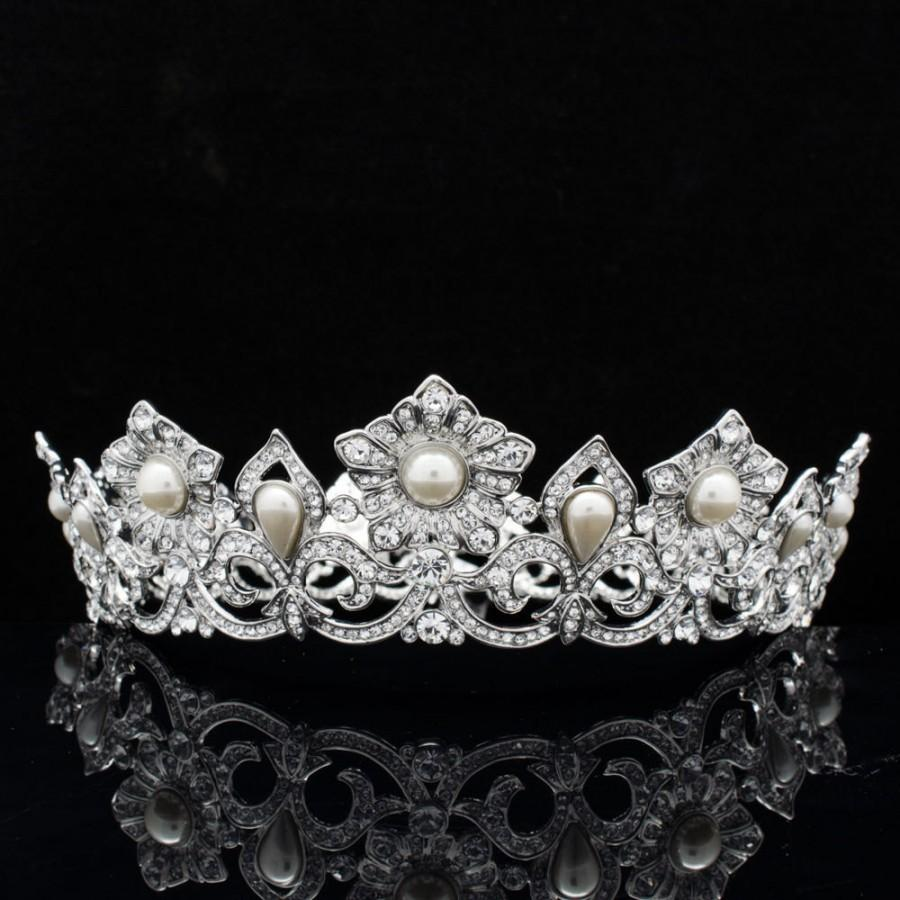 Pearl Crown Bride Wedding Tiara Princess Jewelry Wedding Women Bride Jewelry