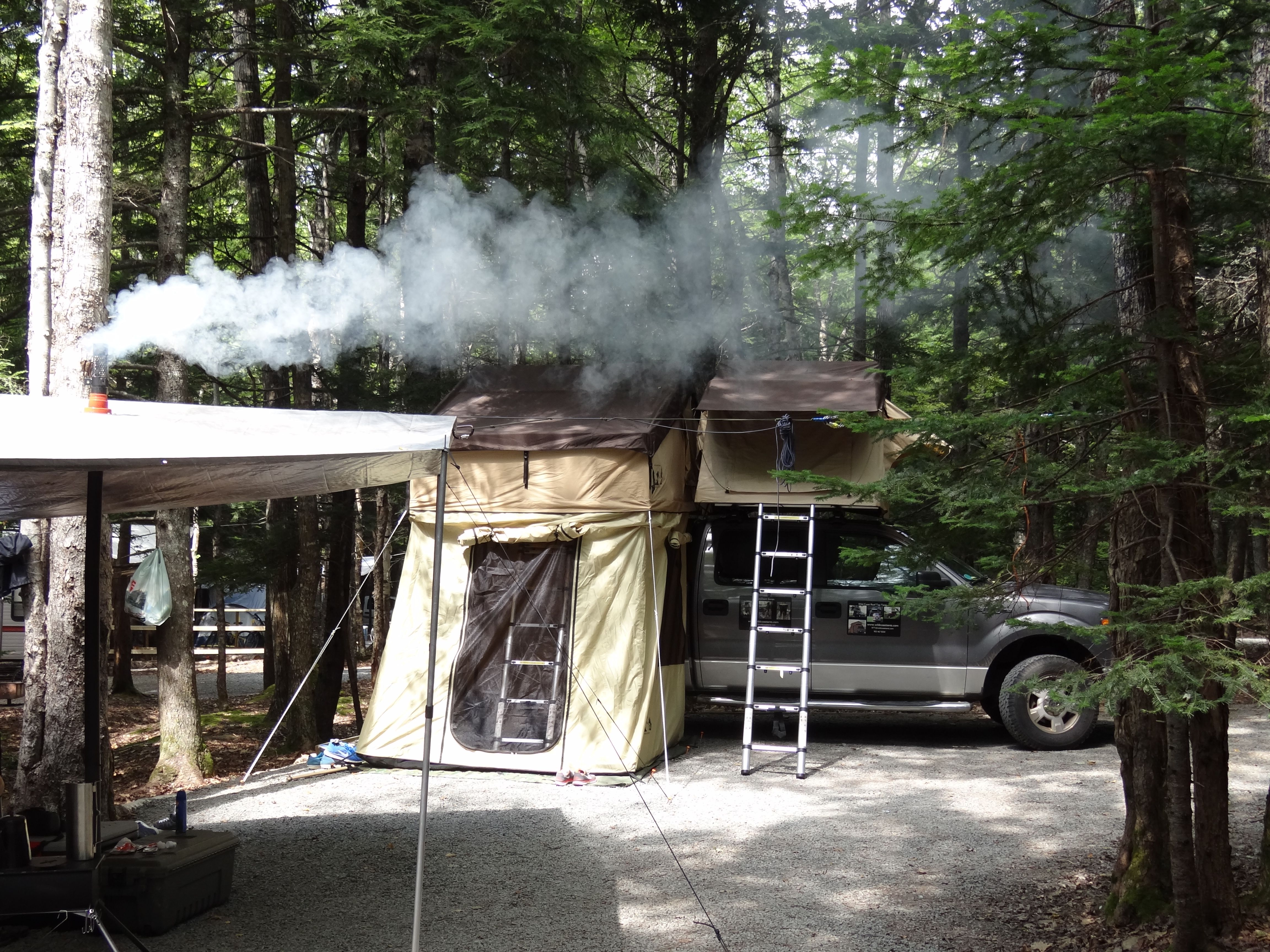 Roof Top Tents Canada and Frontier Stove Roof top tent
