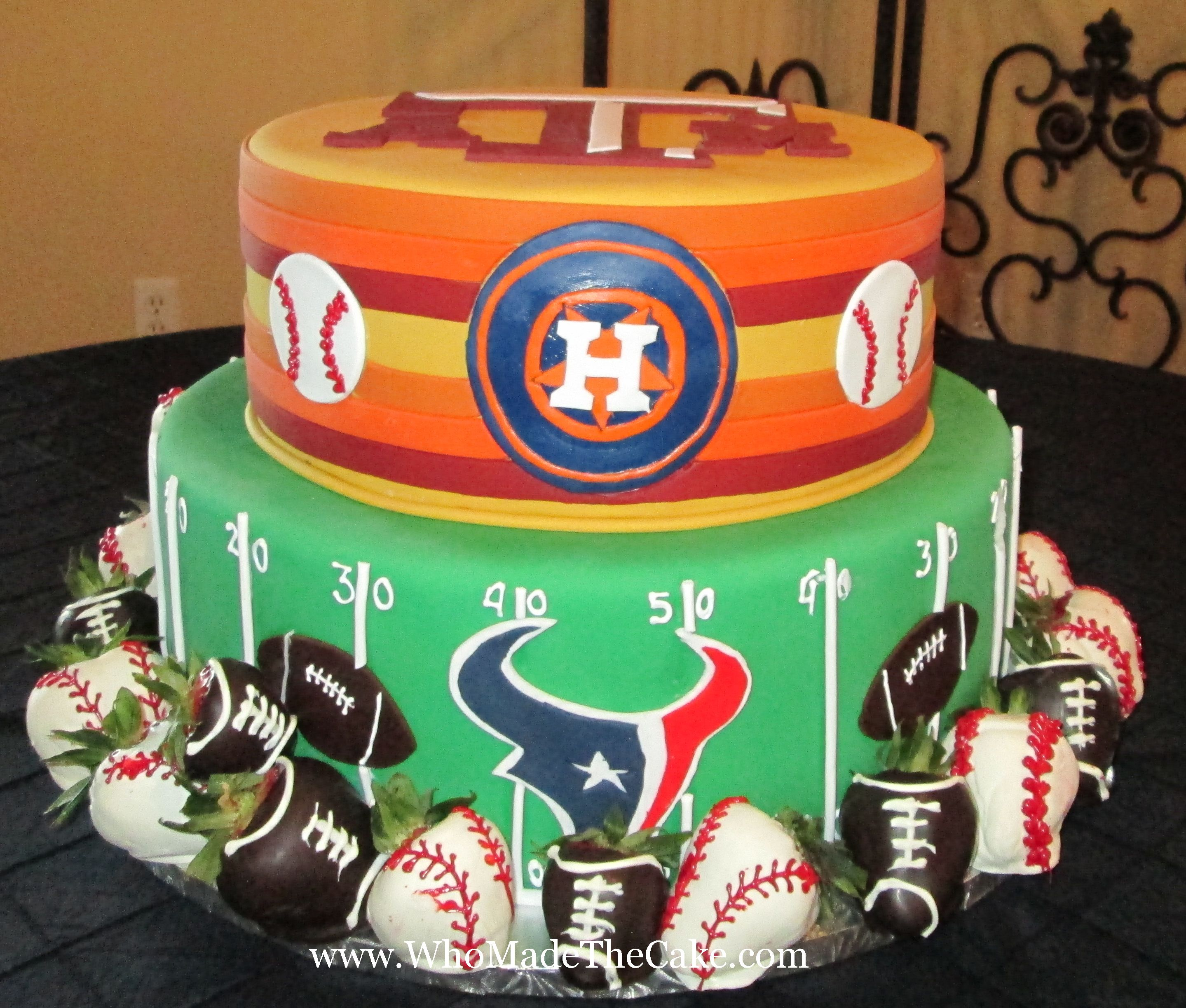 Texas Am Astros Texans Grooms Cake By Whomadethecake