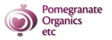 pomegranate organics logo