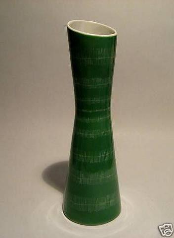 Mint Mid Century Design Cmielow Ceramic Etched Vase Measures About