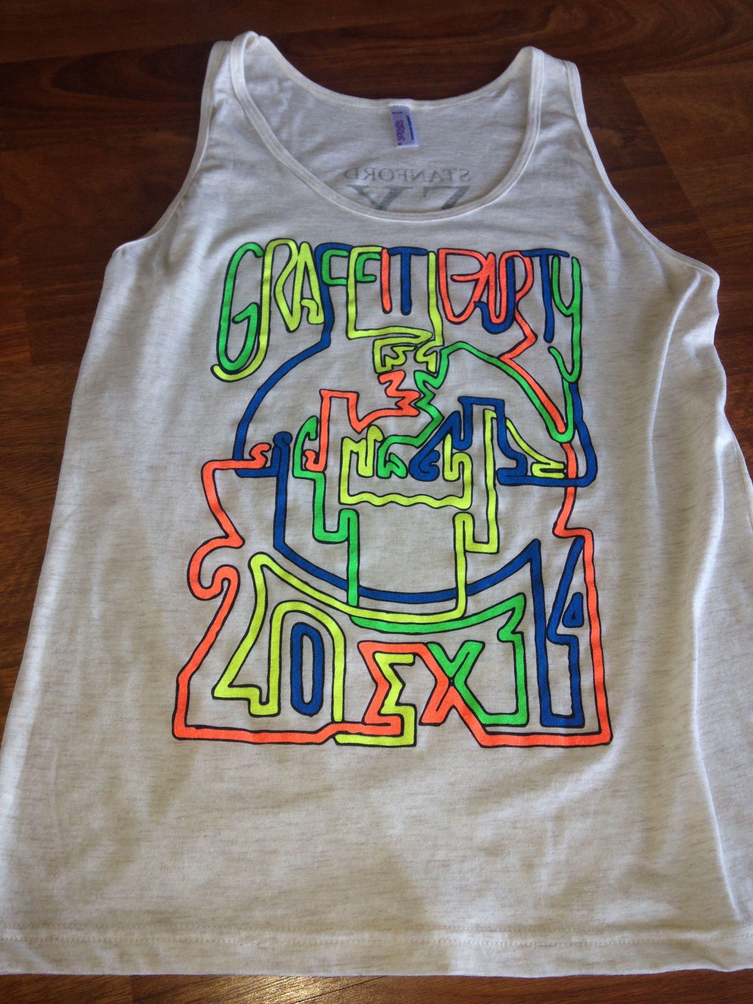 Black light t shirt ideas - Sigma Chi Ex Stanford University Graffiti Party Black Light Shirts
