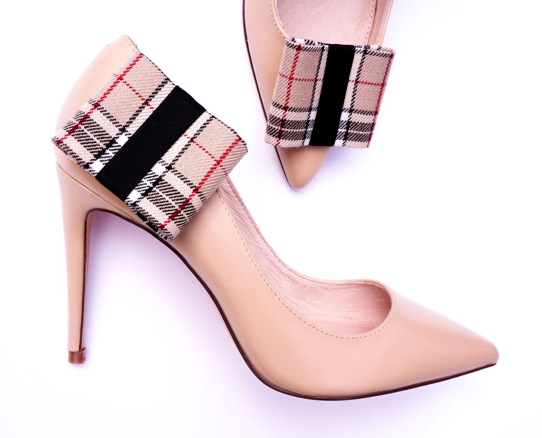 Shoe Clips By Coquet Flat A La Burberry Ze Sklepu Coquetaccesories Na Etsy Shoe Clips Vintage Shoes Shoes